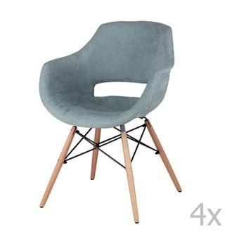 Set 4 scaune sømcasa Nadine, verde mentă bonami.ro