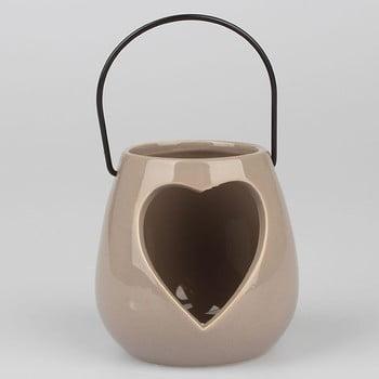 Felinar în formă de inimă Dakls, gri bonami.ro