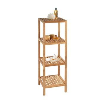 Suport din lemn de nuc pentru baie cu 3 rafturi Wenko Norway bonami.ro