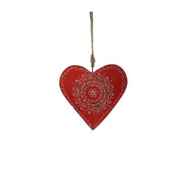 Decorațiune suspendată din lemn în formă de inimă Antic Line Red Warm bonami.ro