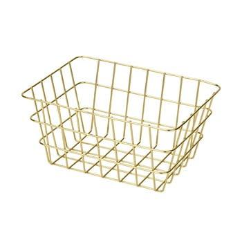 Coș metalic pentru depozitare Wenko Viana, auriu poza bonami.ro