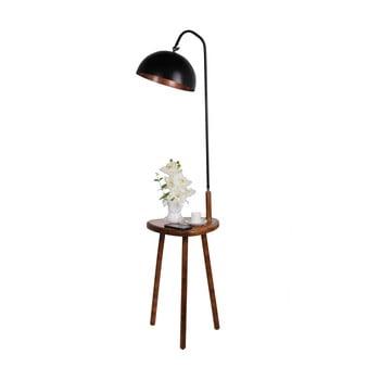 Lampadar cu măsuță auxiliară Opviq lights, negru poza bonami.ro