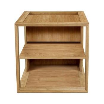 Măsuță auxiliară în decor de lemn de stejar Woodman Cube, 50 x 50 cm, maro bonami.ro
