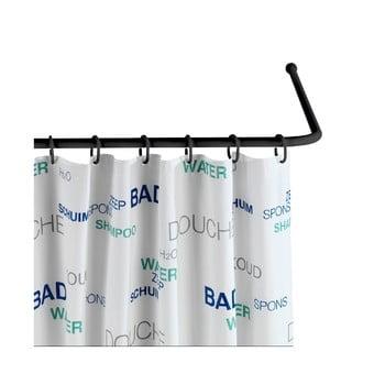 Suport universal pe colț pentru perdea de duș Wenko Black, ø 2 cm, negru poza bonami.ro