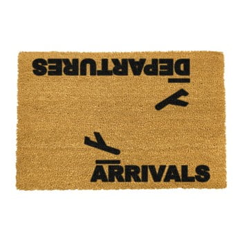 Covoraș intrare din fibre de cocos Artsy Doormats Arrivals and Departures, 40 x 60 cm poza bonami.ro