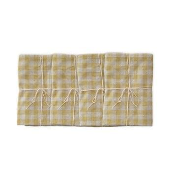Set 4 șervețele textile Linen Couture Beige Vichy, 43 x 43 cm bonami.ro