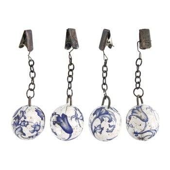 Set greutăți din ceramică cu cleme pentru șervețele / documente Esschert Design Garden poza bonami.ro