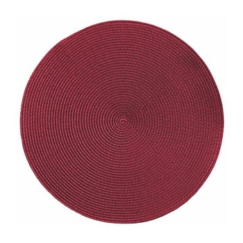 Suport rotund pentru farfurie Zic Zac Round Chambray, ø38cm, roșu bonami.ro