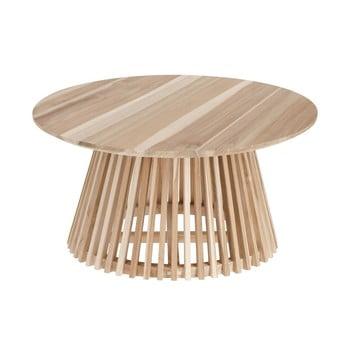Masă de cafea din lemn de tec La Forma Irune, ⌀ 80 cm imagine