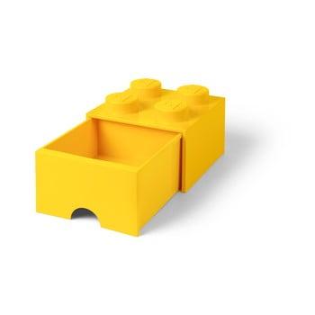 Cutie depozitare cu sertar LEGO®, galben bonami.ro