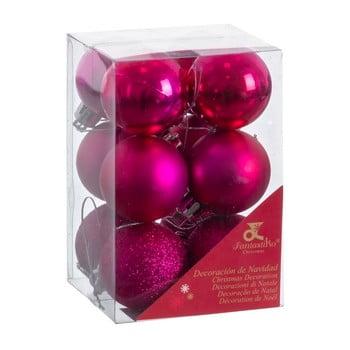 Set 12 decorațiuni de Crăciun Unimasa Navidad, violet bonami.ro