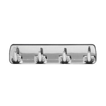 Cuier de perete cu 4 cârlige Wenko Hook Strip Chrome bonami.ro