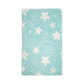 Covor antiderapant pentru copii Chilai Star,100x160cm, albastru poza bonami.ro