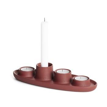 Sfeșnic EMKO Aye Aye Four Candle, vișiniu poza bonami.ro