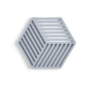 Suport din silicon pentru vase fierbinți Zone Hexagon, gri albastru poza bonami.ro