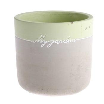 Ghiveci din beton Dakls My Garden, inaltime 11,5 cm, gri-verde