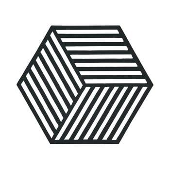 Suport pentru vase fierbinți Hexagon, negru poza bonami.ro