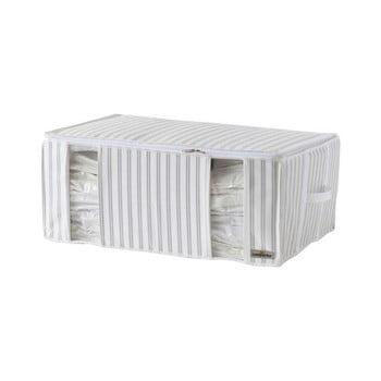 Cutie pentru depozitare cu vacuum Compactor Stripes, gri - alb poza bonami.ro