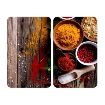 Set 2 protecții din sticlă pentru aragaz Wenko Spices,52x30cm poza bonami.ro