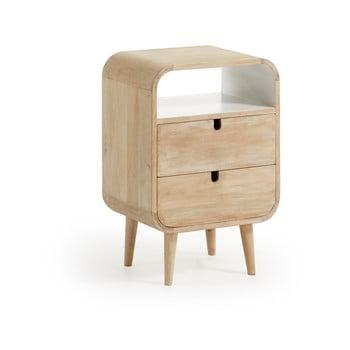 Noptieră din lemn de mango cu 2 sertare La Forma Gerald, 40 x 30 cm bonami.ro