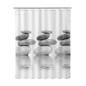 Perdea de duș Unimasa Stones, 180 x 200 cm, bej poza bonami.ro