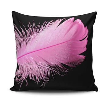 Perna pentru scaun Gravel Pink Feather, 42 x 42 cm,A cuA umplutura