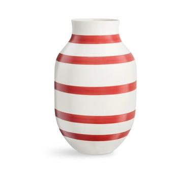 Vază din ceramică Kähler Design Omaggio, înălțime 31 cm, alb-roșu bonami.ro