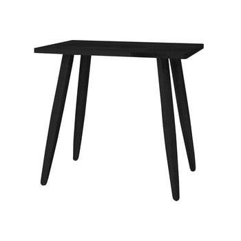 Scaun din lemn de stejar Canett Uno, negru imagine