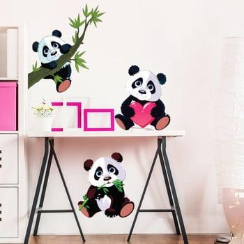 Set 3 autocolante de perete Ambiance Panda poza bonami.ro