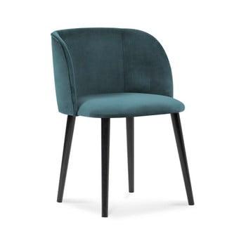 Scaun cu tapițerie de catifea Windsor & Co Sofas Aurora, albastru petrol imagine