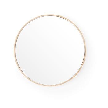Oglindă de perete cu ramă din lemn de stejar Wireworks Glance, ⌀31 cm imagine