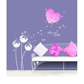 Autocolant Ambiance Pink Hearts bonami.ro