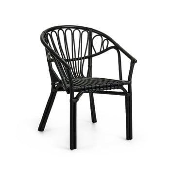 Fotoliu din ratan La Forma Corynn, negru imagine