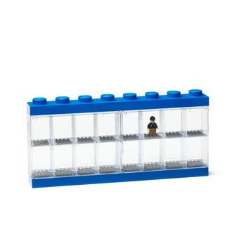 Cutie depozitare 16 minifigurine LEGO®, albastru poza bonami.ro