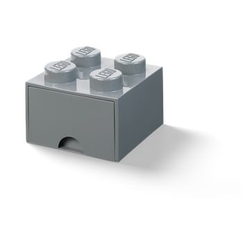 Cutie depozitare cu sertar LEGO®, gri închis bonami.ro