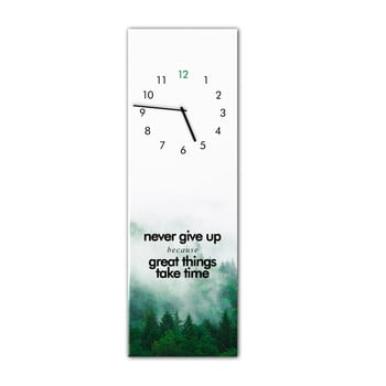 Ceas de perete Styler Glassclock Great Things, 20 x 60 cm poza bonami.ro