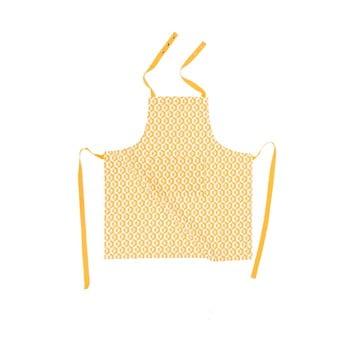 Șorț din bumbac Tiseco Home Studio Hexagon, galben bonami.ro