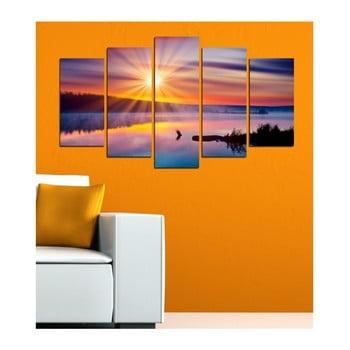 Tablou din mai multe piese 3D Art Mardo Sunset, 102 x 60 cm bonami.ro