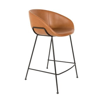 Set 2 scaune bar Zuiver Feston, înălțime scaun 76cm, maro imagine