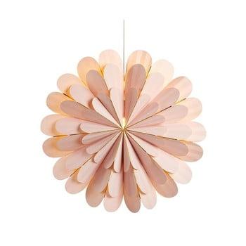 Decorațiune luminoasă suspendată Markslöjd Marigold, ø 60 cm, roz bonami.ro