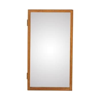 Oglindă de perete cu o cutie din lemn masiv de stejar pentru chei Canett Uno, 25x45cm bonami.ro