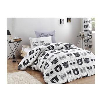Lenjerie cu cearșaf pentru pat de o persoană Reterro Sylvana, 160 x 220 cm bonami.ro