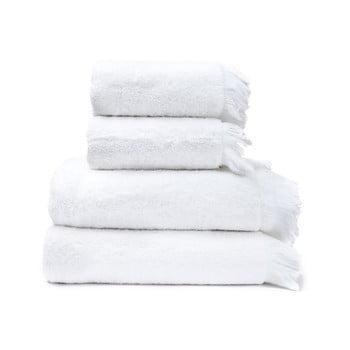 Set 4 prosoape din 100% bumbac Bonami, 50 x 90 + 70 x 140 cm, alb poza bonami.ro