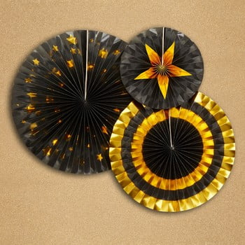 Set 3 ornamente din hârtie Neviti Glitz & Glamour Goldie bonami.ro