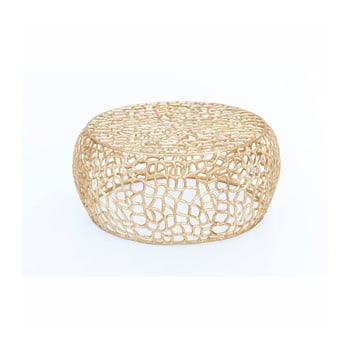Masă de cafea WOOX LIVING Honey, ⌀ 73 cm, auriu bonami.ro
