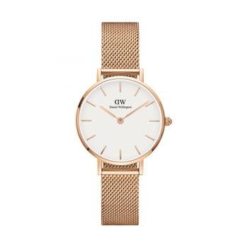 Ceas de damă Daniel Wellington Petite Mel, ⌀ 28 mm, alb-roz auriu imagine