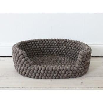 Pat cu bile din lână, pentru animale de companie Wooldot Ball Pet Basket, 60 x 40 cm, maro nucă imagine