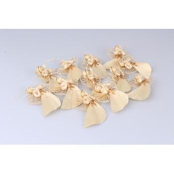 Set 12 decorațiuni suspendate din paie Dakls Lucie, lungime 10 cm, formă înger bonami.ro