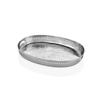 Tavă ovală Mia Sapha, 48 x 34 cm, argintiu bonami.ro