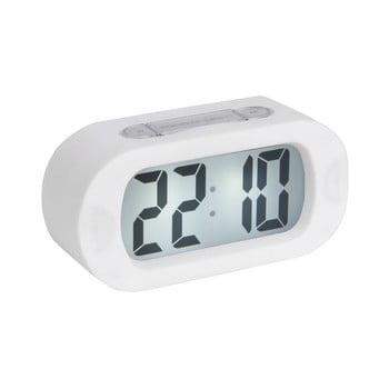 Ceas cauciucat cu alarmă Karlsson Gummy, alb bonami.ro